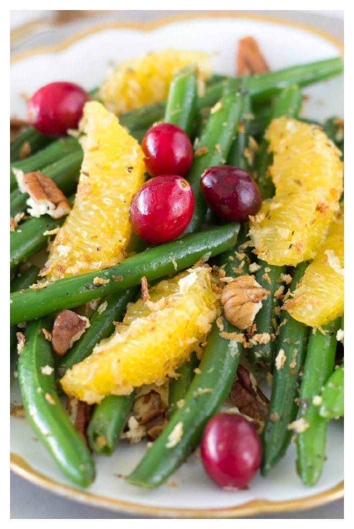 green beans with citrus, pecans and maple vinaigrette - SimpleHealthyKitchen.com