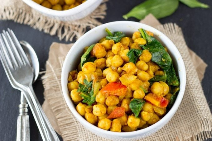 quick and easy channa masala - SimpleHealthyKitchen.com #healthy #one pot-1