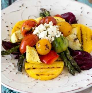 Grilled Polenta and Veggies