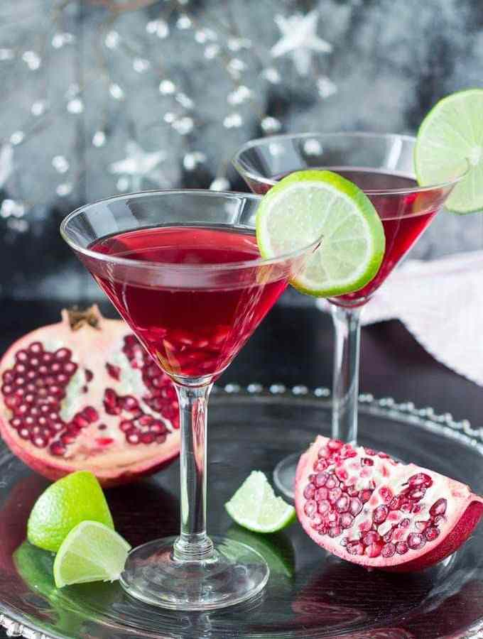 Skinny Pomegranate Martini
