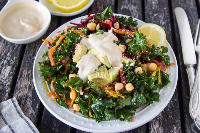 kale-chickpea-salad-with-lemon-tahini