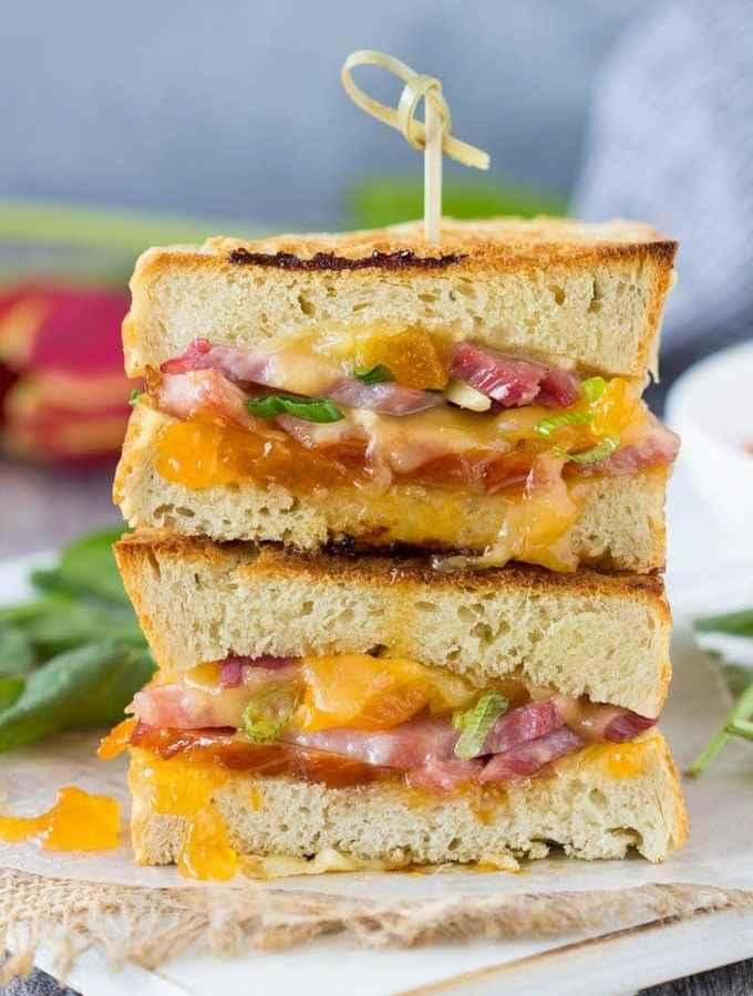 Ham, Smoked Gouda and Apricot Panini