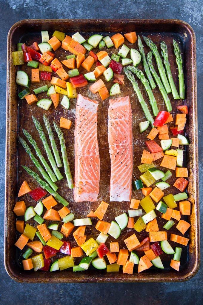 roasted salmon and veggies 4
