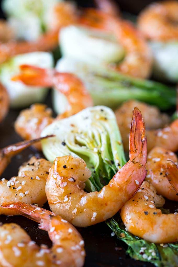 Sheetpan Terriyaki Shrimp + Sesame Bok Choy 2