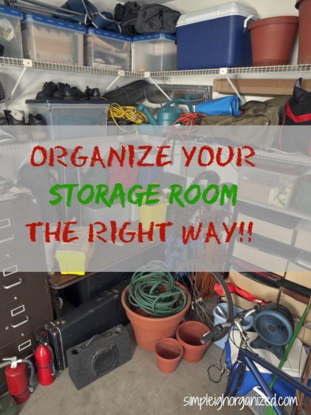 Organize Your Storage Room