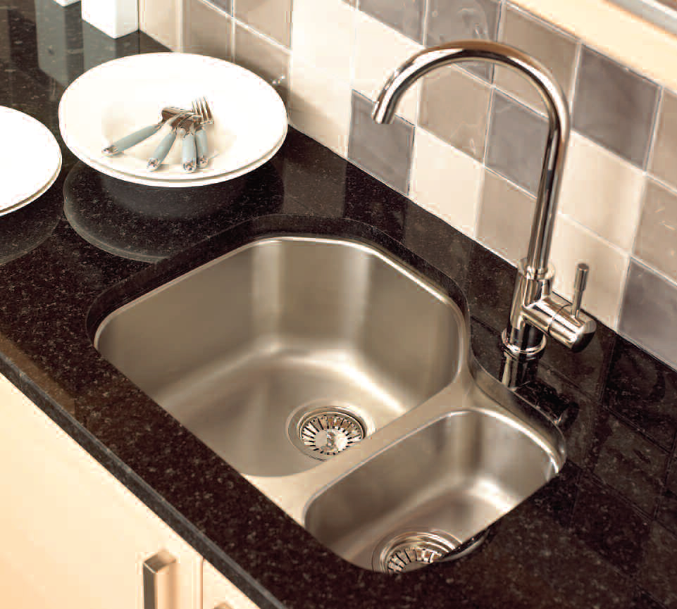 creative corner kitchen sink design ideas stainless steel kitchen sinks Undermount Stainless Steel Kitchen Sink with Black Marble