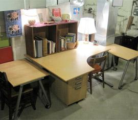 Basement office after