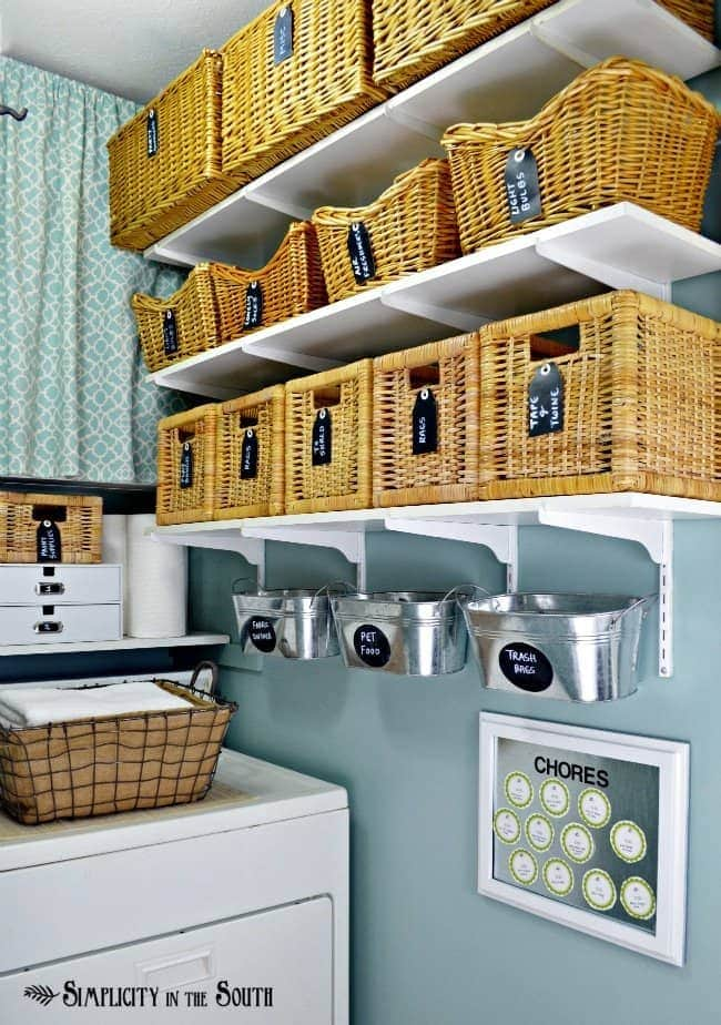 laundry room white small shelf in laundry room organization is