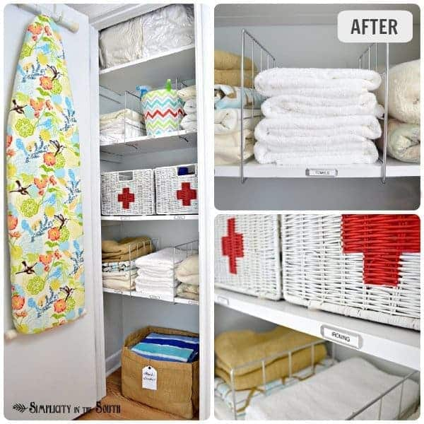 Hall linen closet organization ideas