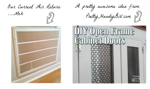 idea for HVAC air return using tutorial from PrettyHandyGirl.com