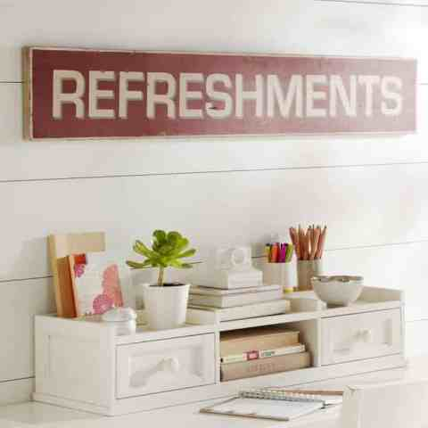 Pottery Barn Refreshments Sign Inspiration