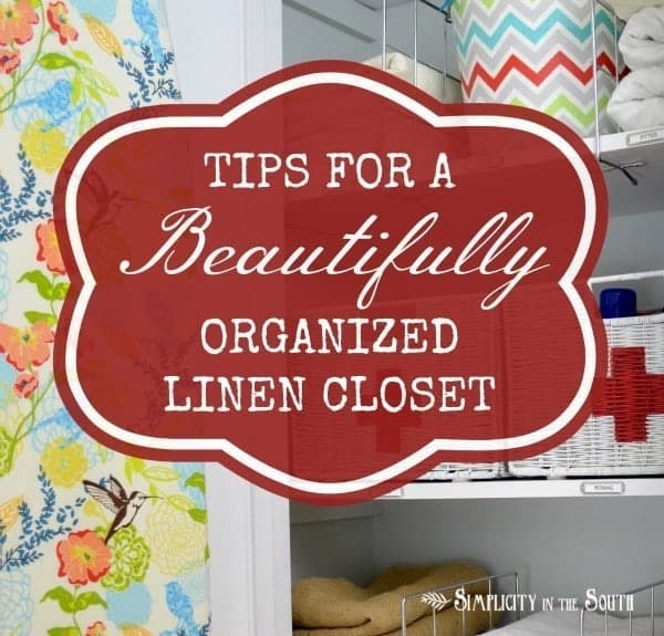 Tips for a beautifully organized linen closet. Closet organization