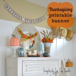 Fall Display & Free Printable Banner
