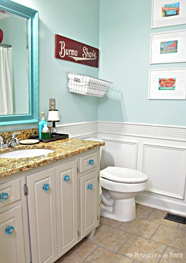 Tidewater by Sherwin Williams - bathroom paint color
