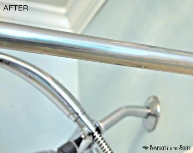 Tips for cleaning rust off of chrome in the bathroom