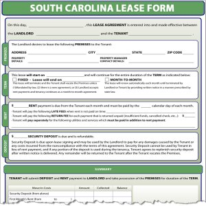 South Carolina Lease
