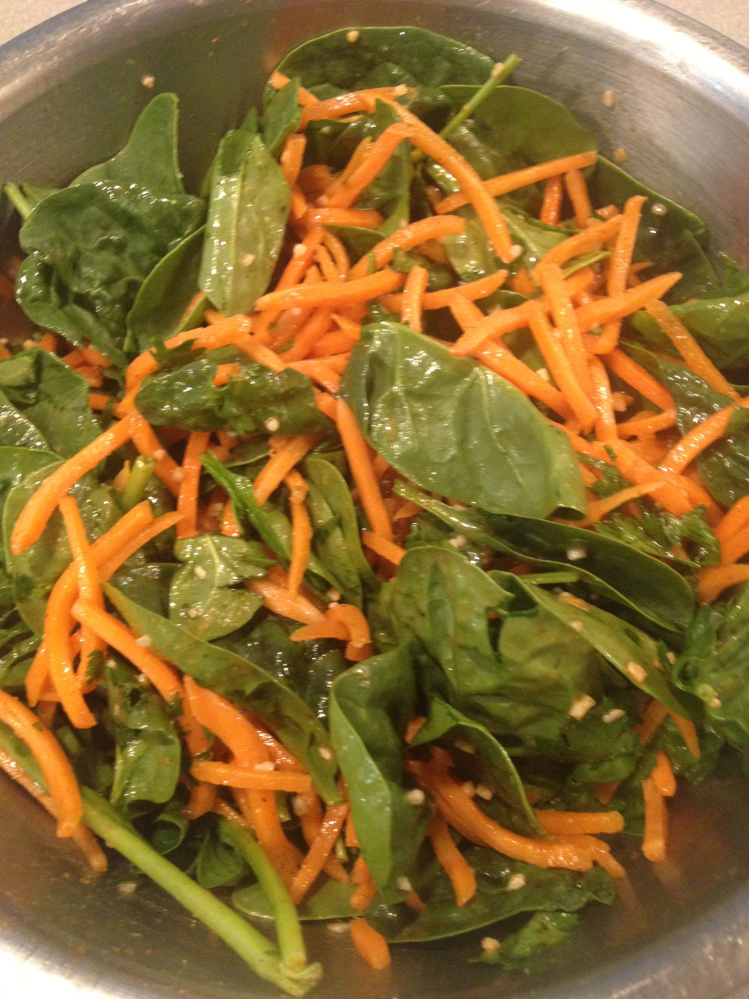 Carrot-Spinach Salad