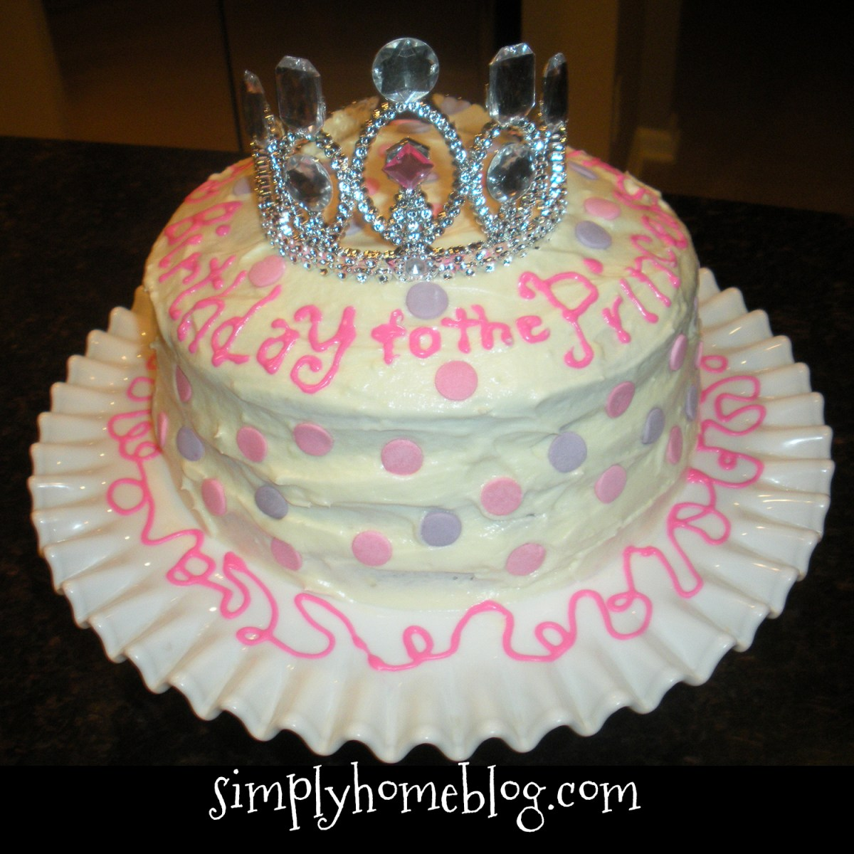 An Easy Princess Cake for a Cute Princess Celebration