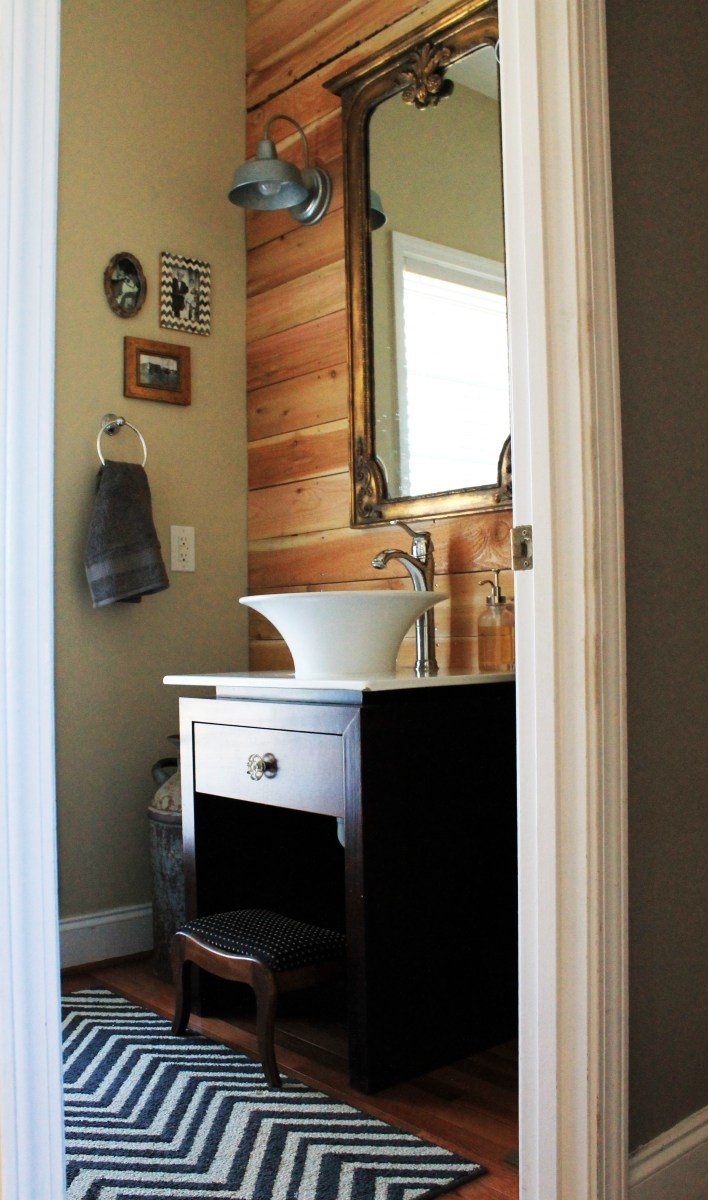 Can I invite you over to the Farmhouse for a Room By Room Tour?  We are Starting in the Powder Room!