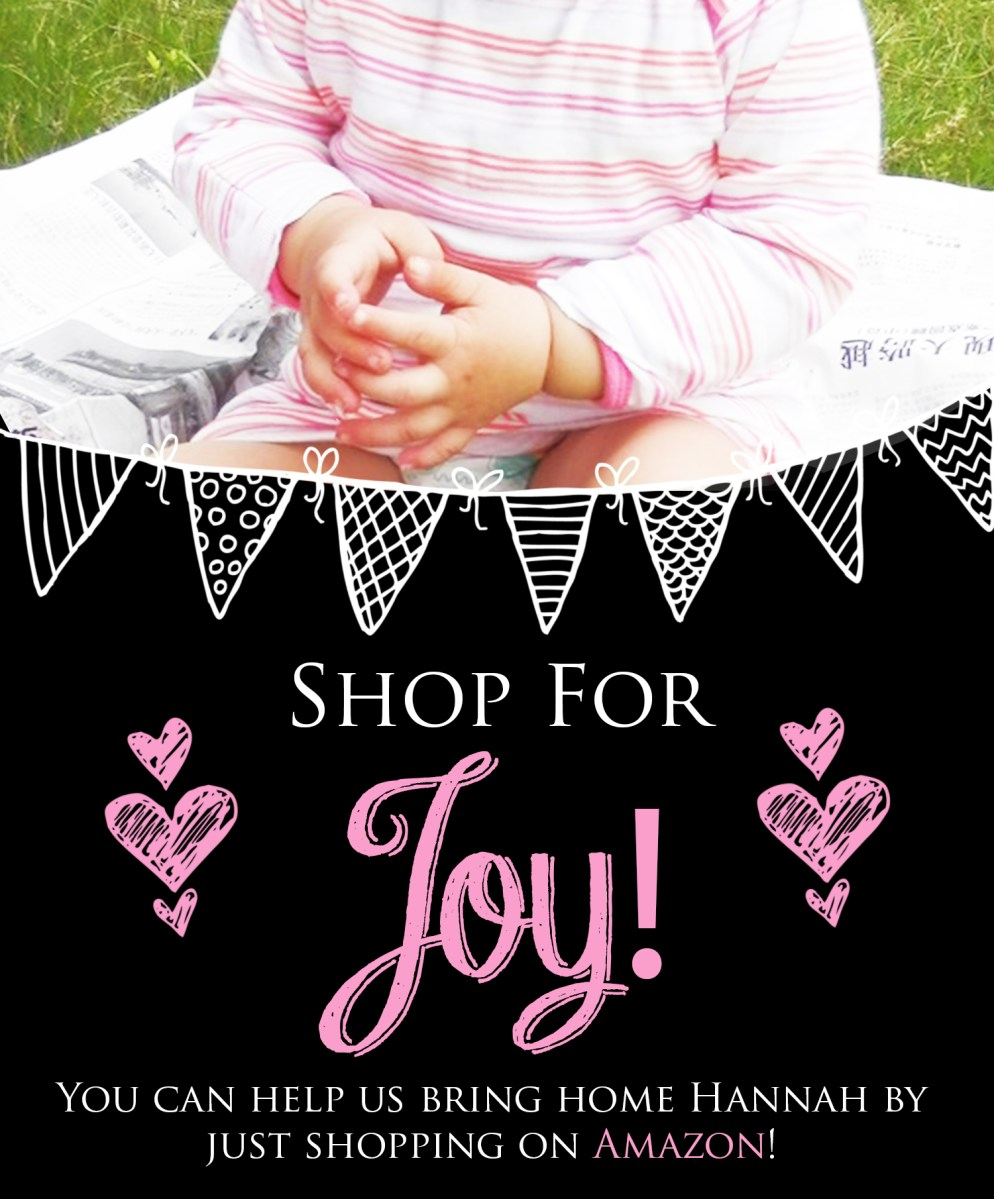 An Adoption Update and Amazon Fundraiser: Shop for JOY!