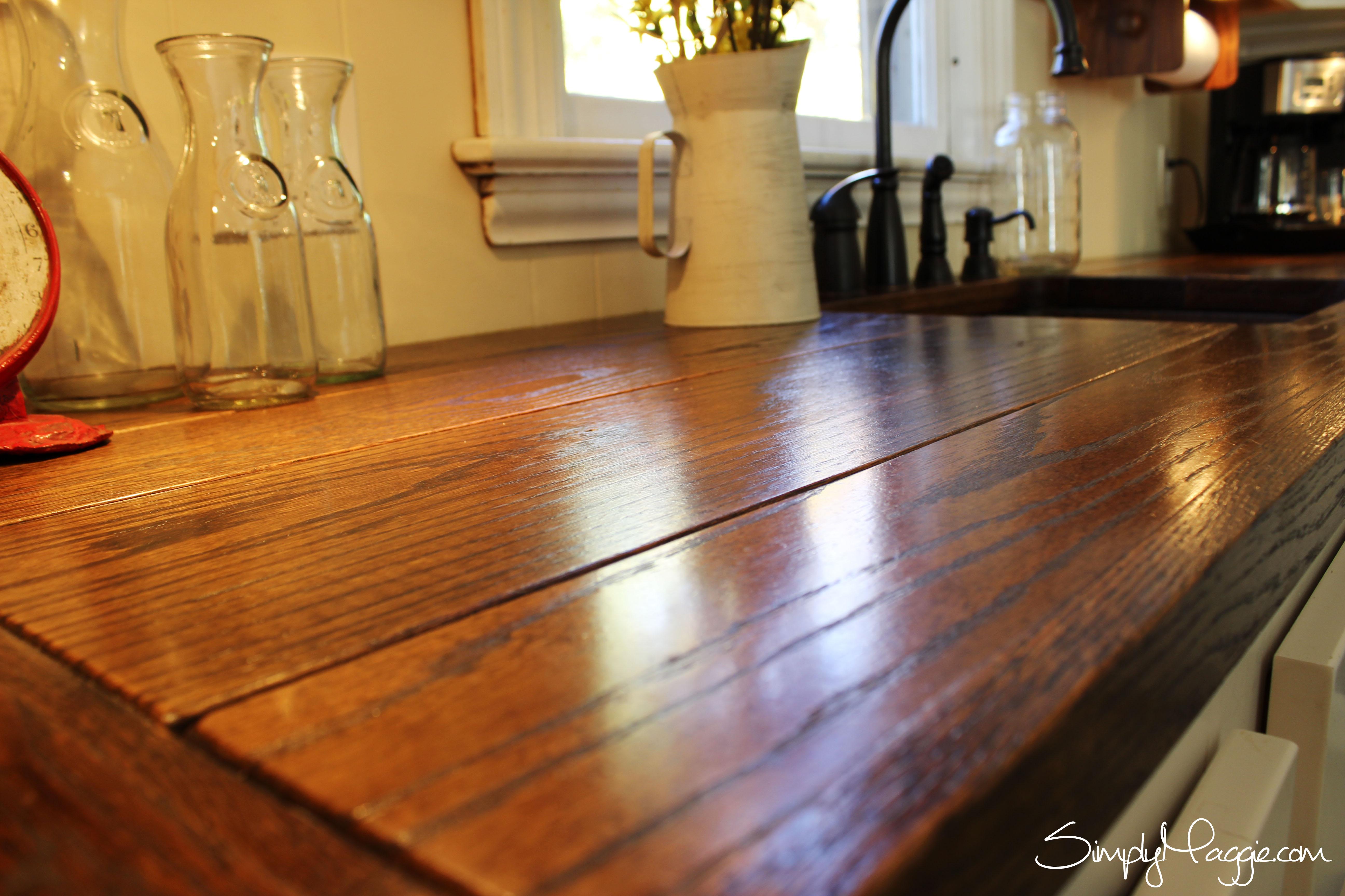 diy wooden kitchen countertops wooden kitchen countertops Diy Wide Plank Butcher Block Counter Tops Simplymaggie