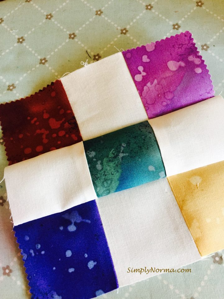 Sewing The Squares Together