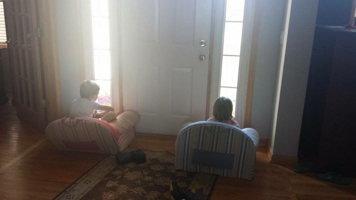 Grandkids waiting for Grandparents
