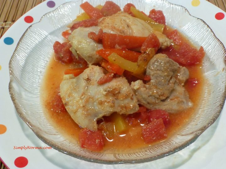 Paleo Chicken Thighs with Roasted Peppers