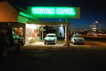 This was the sixth wigwam hotel built on Route 66