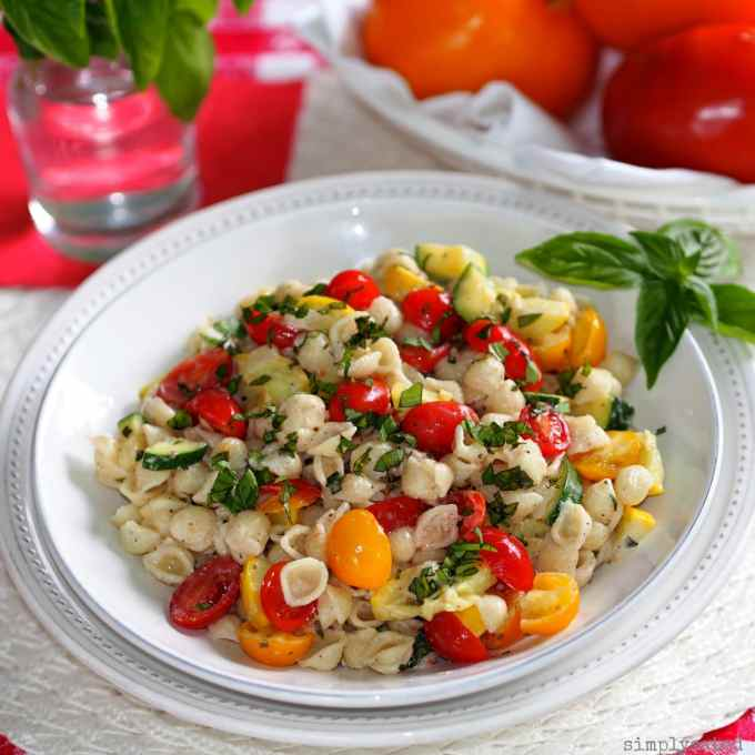 Summer Macaroni Salad With Tomatoes And Zucchini Recipes — Dishmaps