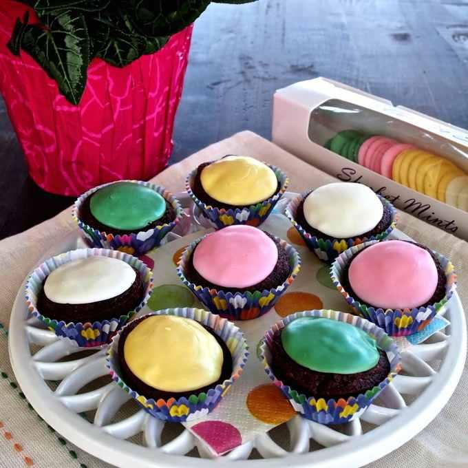 Pastel Mint Brownies