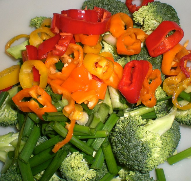 Cut up veggies