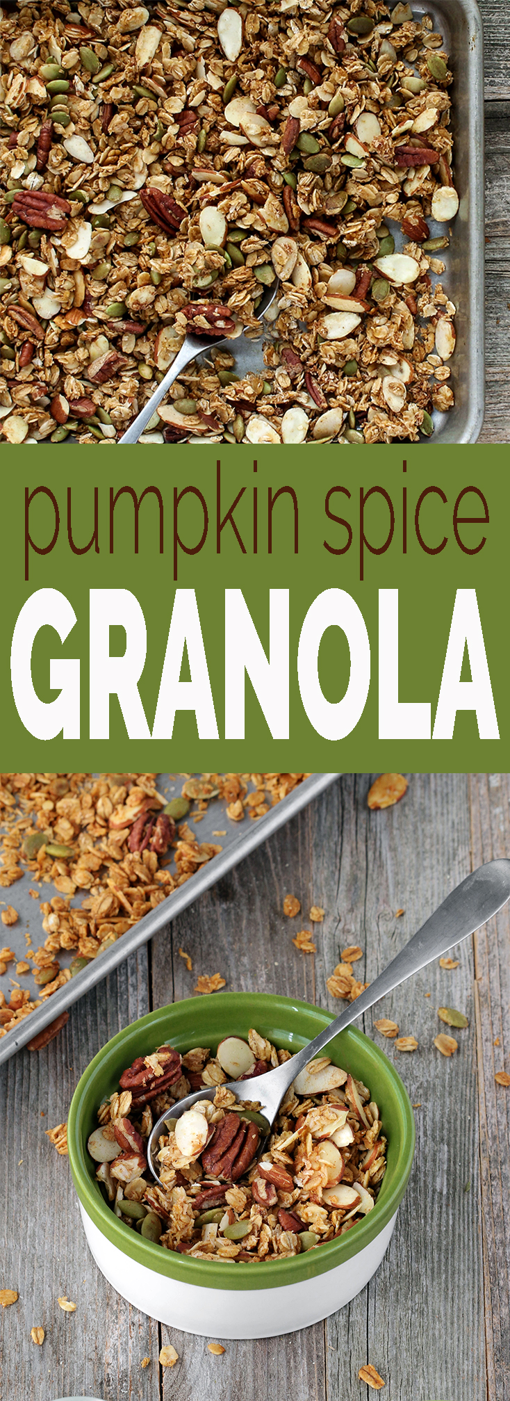 Pumpkin Spice Granola with toasted oats, pecans, sliced almonds ...