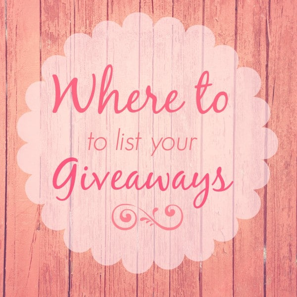 Sites to List Your Giveaways