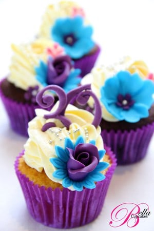 Gorgeous Purple Cupcakes
