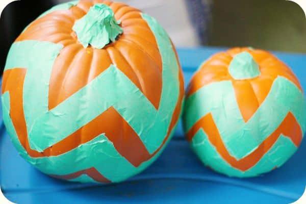 Chevron Pumpkin Tutorial
