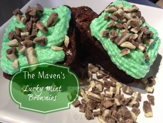 The Maven's Lucky Mint Brownies