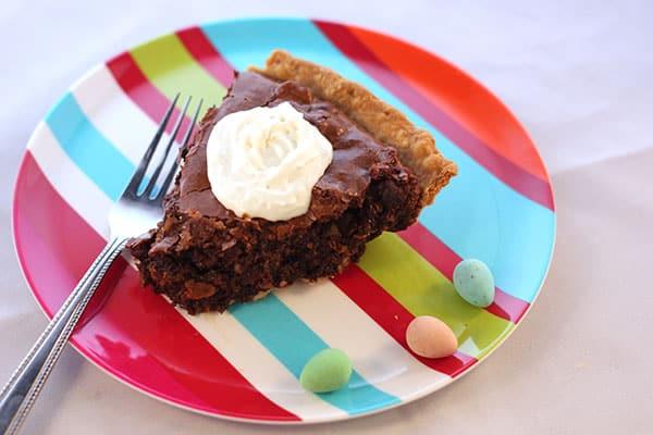 Chewy Chocolate Fudge Pie