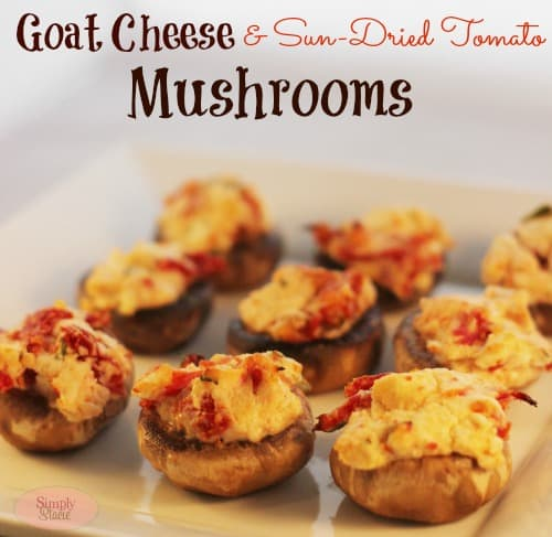 Goat Cheese & Sun-Dried Tomato Mushrooms