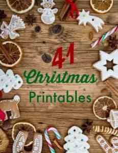 41 Christmas Printables