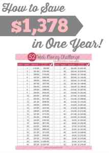 How to Save $1,378 in One Year