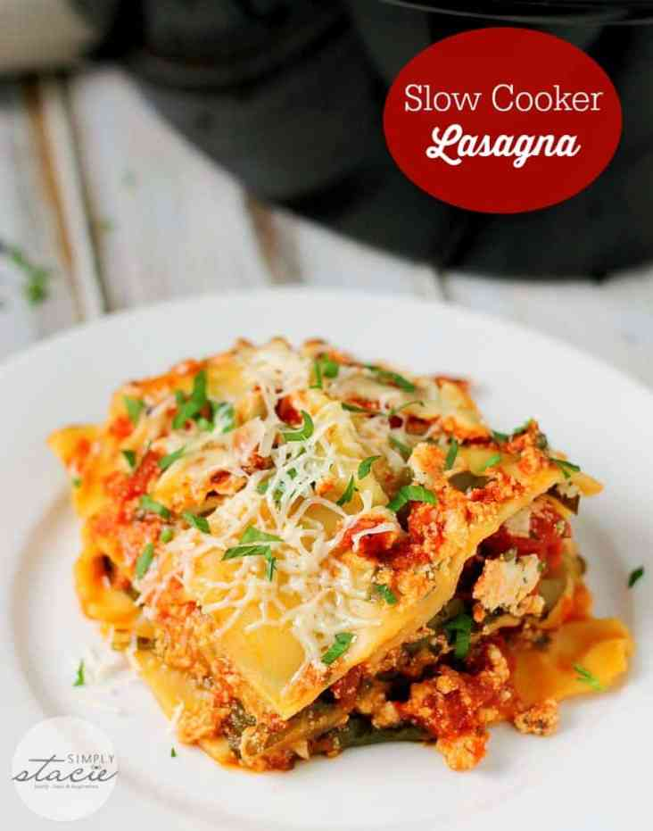 slow cooker lasagna from simply stacie