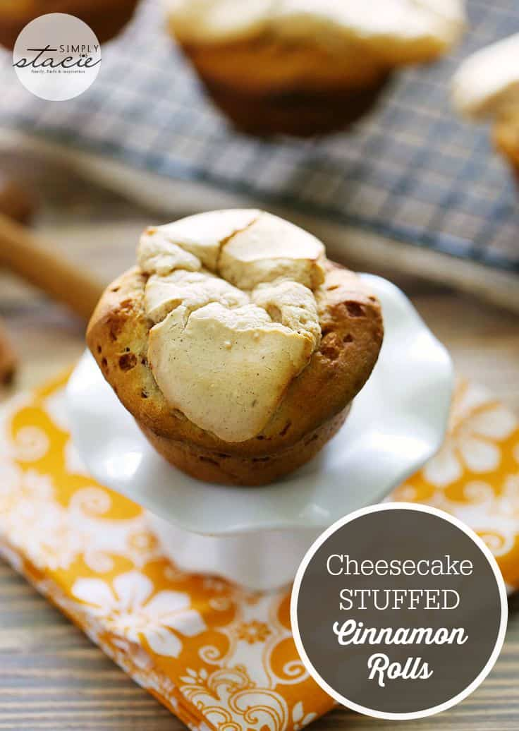 Cheesecake Stuffed Cinnamon Rolls