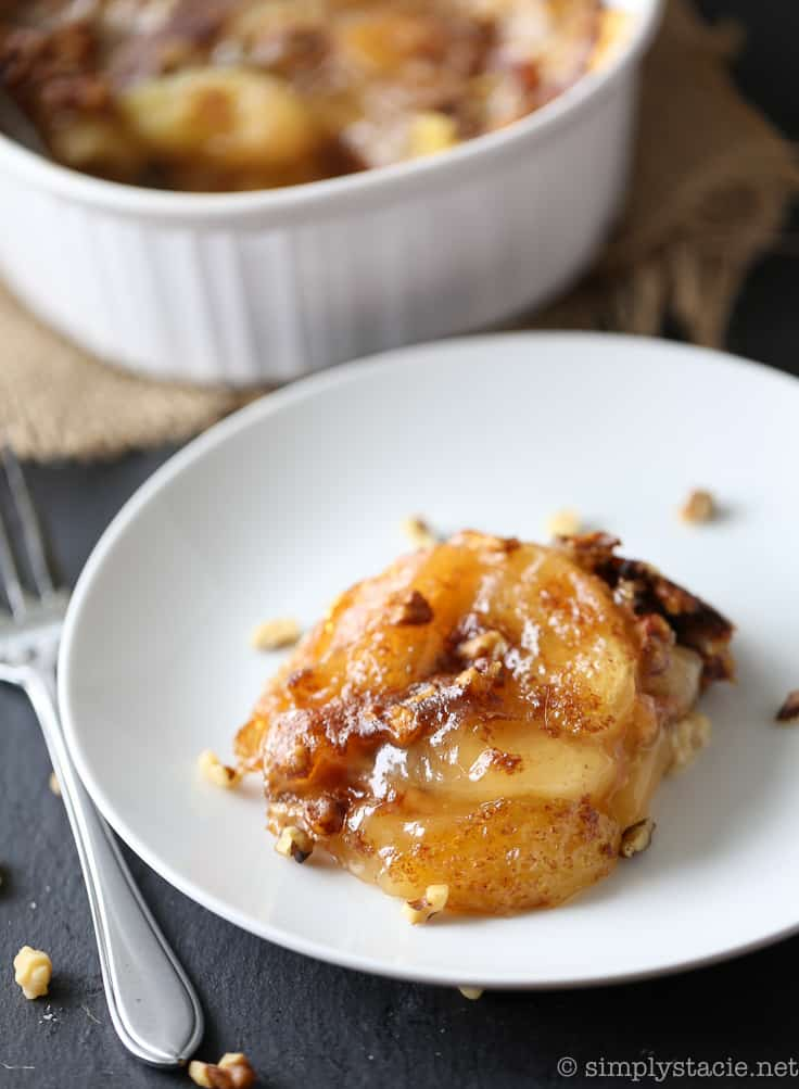 Apple Pie French Toast Casserole - Simply Stacie