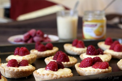Raspberry and Lemon Tarts