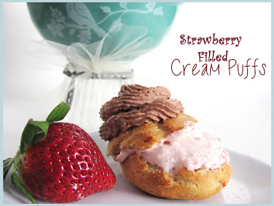 Strawberry Filled Cream Puffs