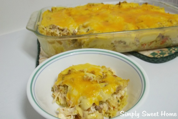 Chicken Stuffing & Vegetable Rice Casserole