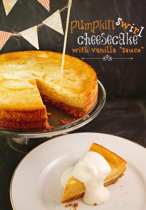 Pumpking Swirl Cheesecake