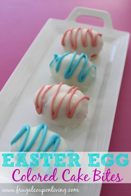 Easter Egg Cake Bites