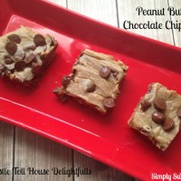 Peanut Butter Chocolate Chip Bars with Nestle Toll House Delightfulls